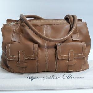 LORO PIANA Odessa Tan Leather Satchel Bag